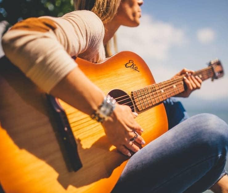 an inexpensive guitar