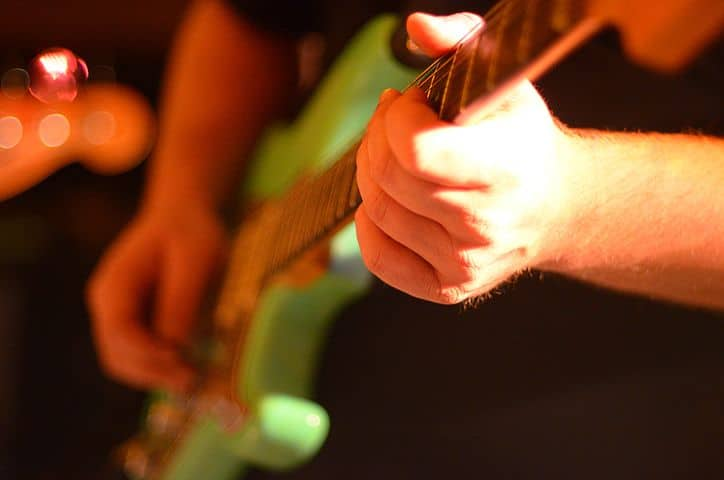 play guitar with a band