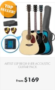 Steel-string acoustic guitars pack