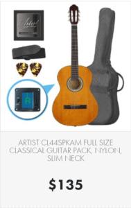 Full size nylon string guitar